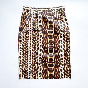 Just Cavalli Animal Print Pencil Skirt